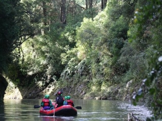 Tranquil rafting