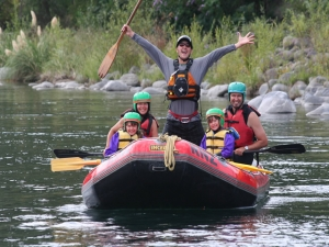 Family rafting fun